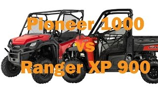 8. Honda Pioneer 1000 vs Polaris Ranger XP 900