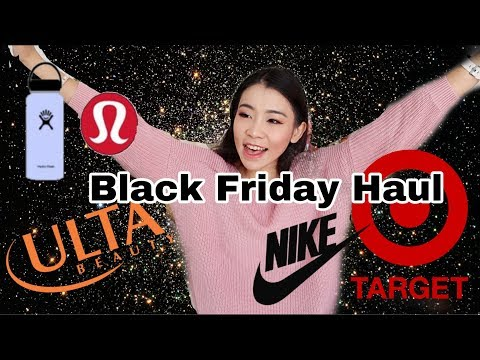 Black Friday Shopping Haul  Massaging Pillow, Ulta, Dicks, Target, LuluLemon, Nike, Amazon Vlogmas2