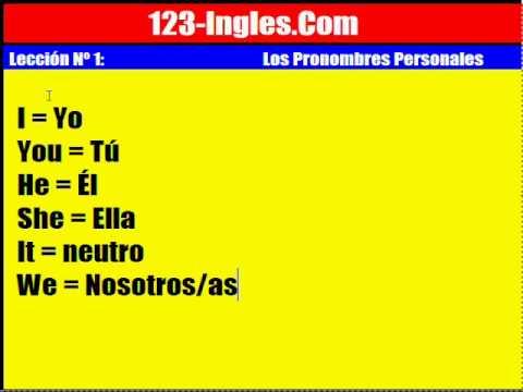 Curso de Inglés: 1. Los Pronombres Personales