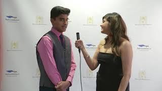 Lochan Karthekeyan speaks to Aayushi Saxena on the red carpet