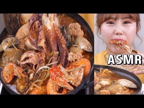 ASMR|키조개, 전복, 오징어, 문어, 새우! 해산물이 듬뿍 들어간 해물탕 먹방 - Thời lượng: 9 phút, 12 giây.