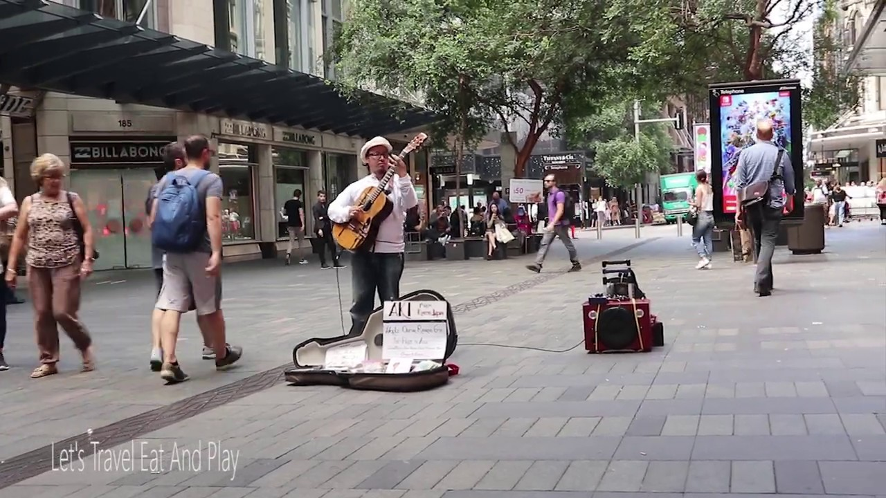 MOST TALENTED Street Performer GUITAR Musicians Videos I Sydney Australia