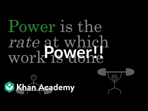 Power Video Work And Energy Khan Academy