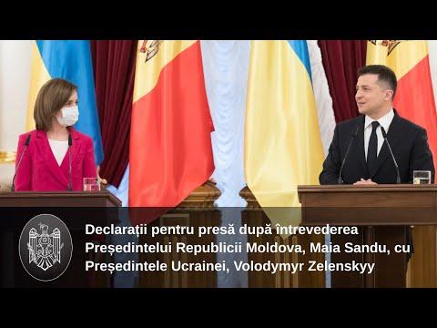 """Președintele Republicii Moldova, Maia Sandu, în cadrul vizitei oficiale la Kyiv: """"Ne dorim să fim mai mult decât vecini, ne dorim să fim prieteni"""""""