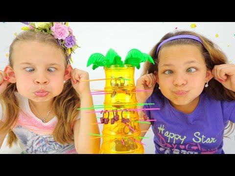 Развивающие игры для детей: падающие обезьянки. (видео)