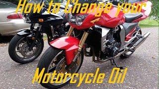 8. How to Change Motorcycle Oil (Kawasaki Z1000)