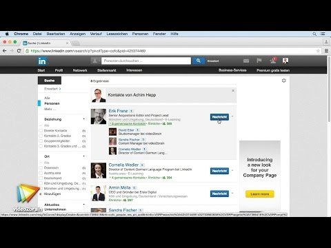 LinkedIn für Einsteiger Tutorial: Kontakte analysieren und strukturieren  video2brain.com