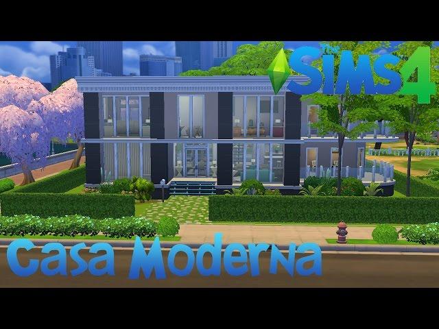 The sims 4 casa moderna for Casa moderna los sims 4