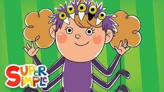 "Get ready for Halloween with the counting song, ""Five Creepy Spiders,"" from Super Simple Learning."