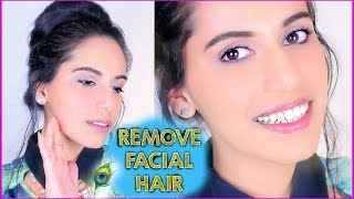 How to Remove FACIAL HAIR Naturally at Home (DIY) with SIMPLE Homemade Mask (DIY) - YouTube