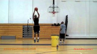 Basketball Footwork for Shooting - Jab Step, Crossover-Dribble Jumper Shooting Drill   Dre Baldwin