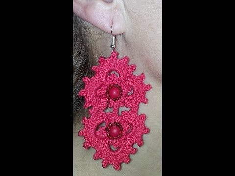 DIY TUTORIAL orecchini uncinetto IMPERO  How to crochet earrings