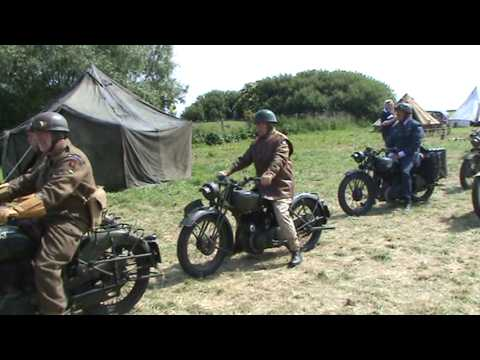 Motorcycles in Normandy, 65th D-Day Anniversary