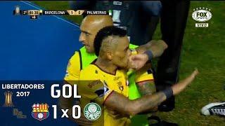 Gol - Barcelona (EQU) 1 x 0 Palmeiras - 1º jogo Oitavas Libertadores 2017 - 05/07/2017Narração: Nivaldo Prieto, Comentários: EdmundoEstádio: Monumental de Barcelona