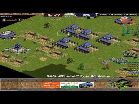 AOE | 4vs4 Random GameTV vs Pow  ngày 8/ 9/ 2017.BLV:G_Ver