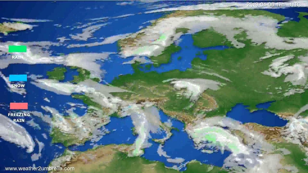 Precipitation forecast Europe // modelrun: 12h UTC 2019-04-04