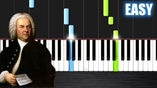 Bach: Air on the G string - EASY Piano Tutorial  Ноты и М�Д� (MIDI) можем выслать Вам (Sheet music f