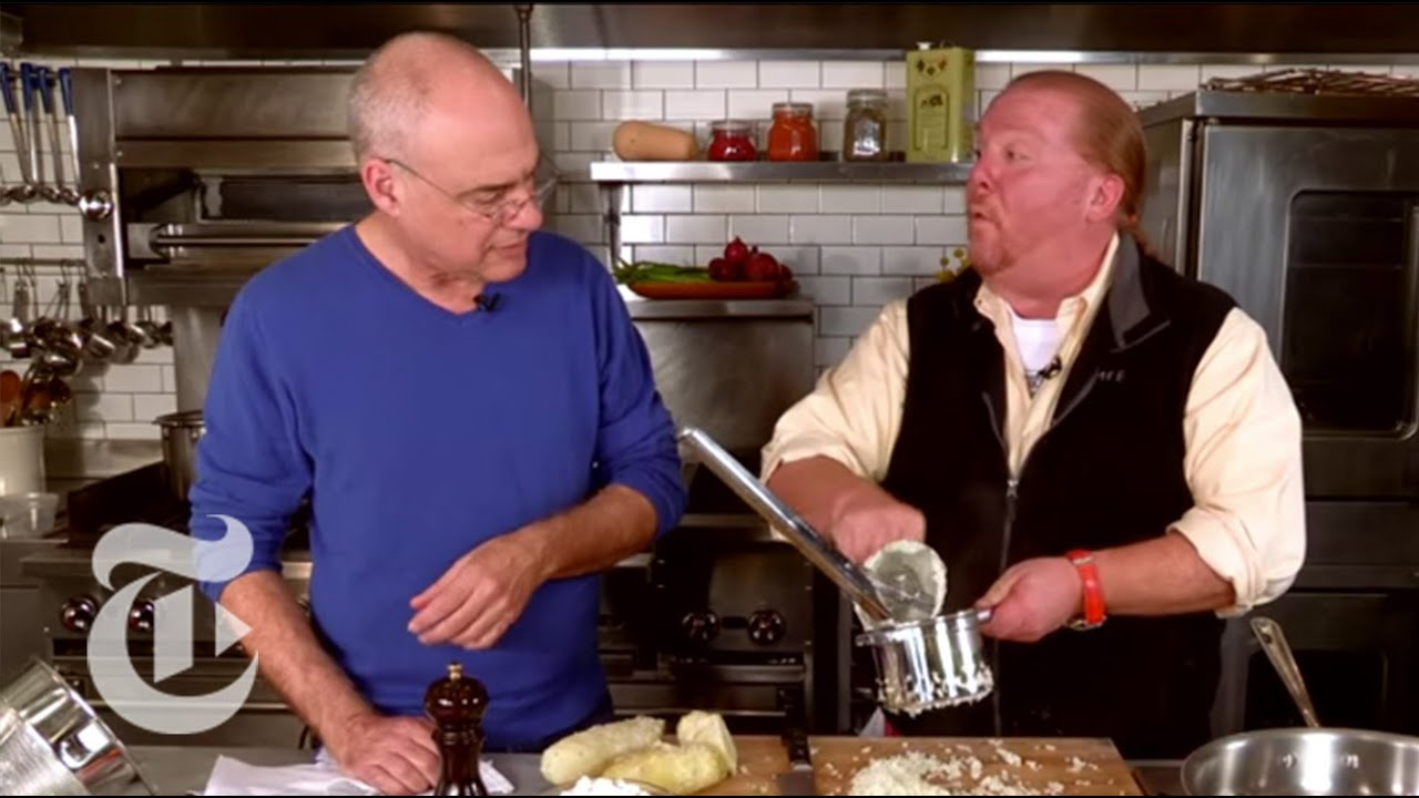 Mario Batali and Mark Bittman Make Gnocchi Recipe With Squash   The New York Times