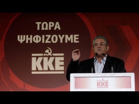 Η προεκλογική συγκέντρωση του ΚΚΕ στο Σύνταγμαμε την κάμερα του ΑΠΕ-ΜΠΕ
