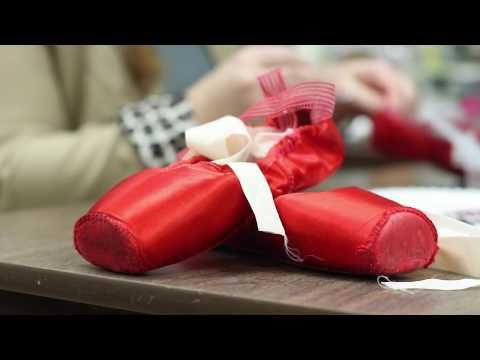 Wardrobe creates Dorothy's Ruby Pointe Shoes