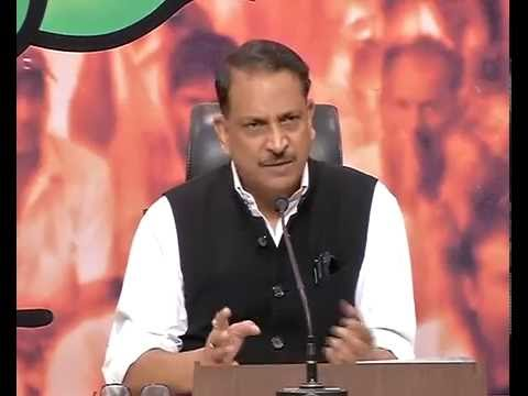 Press conference by Shri Rajiv Pratap Rudy at BJP HQ: 08.06.2016