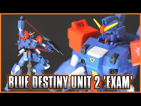 1/144 HGUC Blue Destiny Unit 2 'EXAM' Review - GUNDAM SIDE STORY -