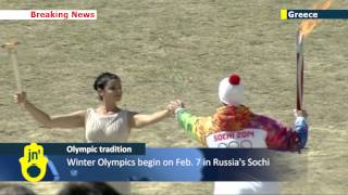 Olympic Torch Ceremony In Greece: Torch For Sochi 2014 Winter Olympics Is Lit In Olympia