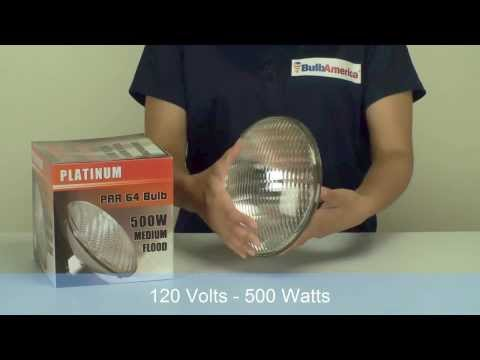 BulbAmerica.com Reviews the PLATINUM 500W 120v PAR64 MFL Par Can Bulb