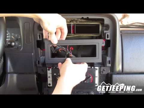 How to: Install radio head mount in 1997-2001 Jeep Cherokee XJ – GetJeeping