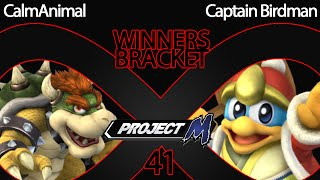 "Cool to see ""low tier"" Characters played at a high level. CalmAnimal (Bowser) vs Captain Birdman (Dedede)"