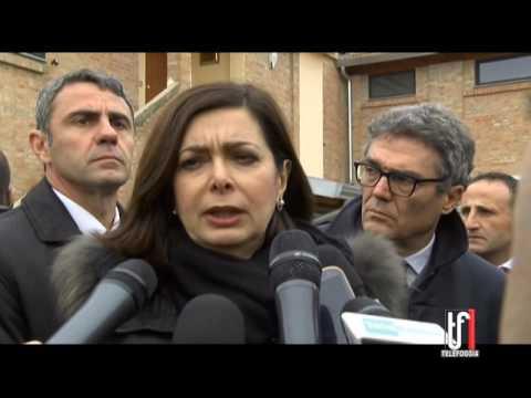 """IL PRESIDENTE DELLA CAMERA, BOLDRINI, A FOGGIA: """"RESTIAMO UNITI, NON E' IL MOMENTO DELLE POLEMICHE"""""""