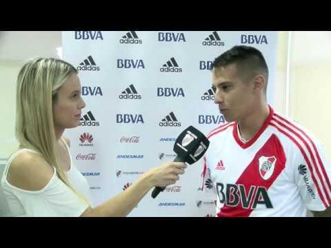 Carlos Auzqui, tras convertirse en nuevo jugador de River Plate