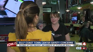 Employees of a local bar at Gulf Coast town center say a group of people held down a security guard near the Belk clothing store and beat him. Four In Your Corner's Stephanie Tinoco is digging through data to highlight recent crimes and find out what the center is doing to keep you safe.