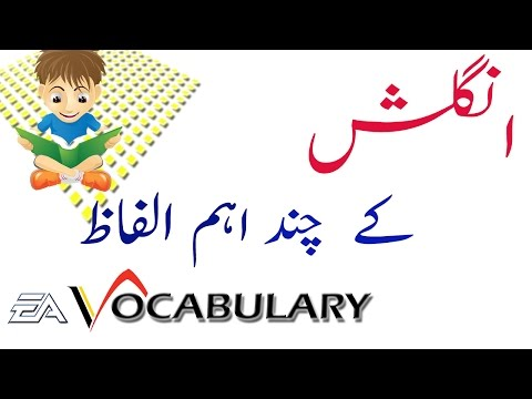 Most Important English vocabulary with Urdu Hindi Meaning
