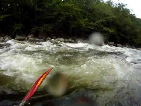 Kayaking Deerfield River Dryway Dunbar and getting trashed in a giant hole