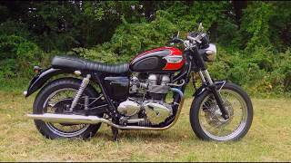 9. Triumph Bonneville t100 deep exhaust tone