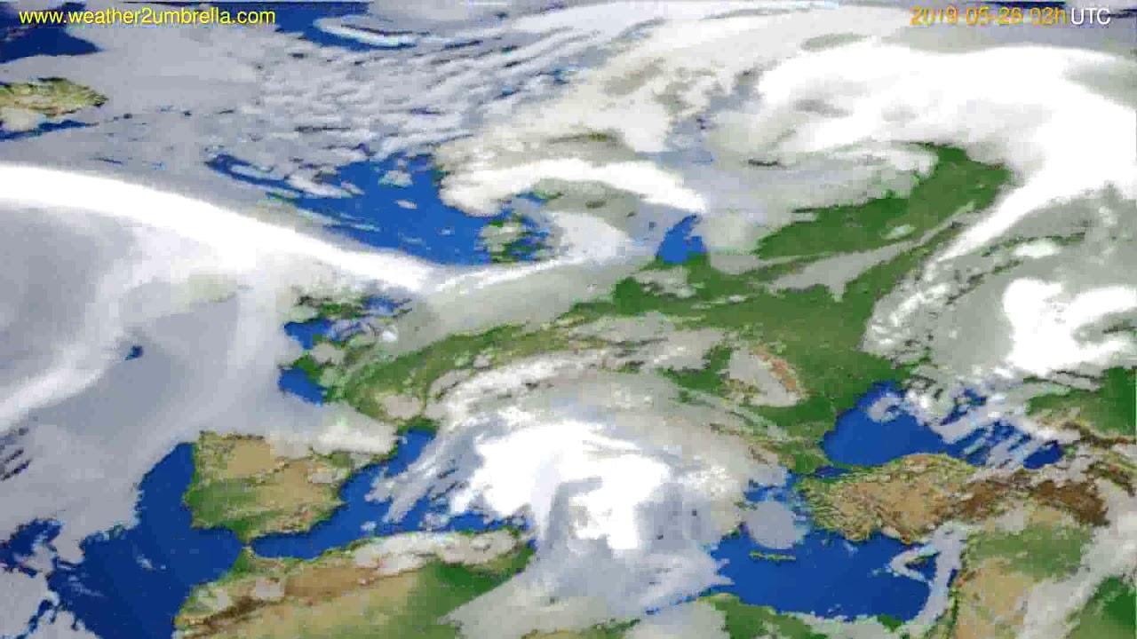 Cloud forecast Europe // modelrun: 00h UTC 2019-05-23