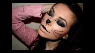 Kitty Cat makeup for halloween (Photos)