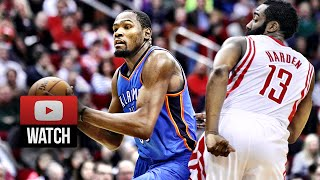 2014.04.04 - James Harden vs Kevin Durant Full Battle Highlights - Rockets vs Thunder