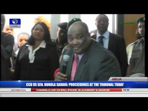 CCB VS Sen. Bukola Saraki: Proceedings At The Tribunal 22/09/15 Pt 8