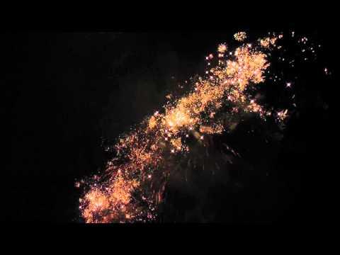 Feuerwerk 28.09.12 Burgruine Hardenberg