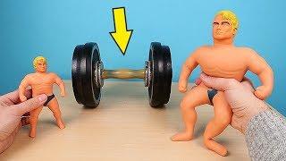 Большой Стретч Армстронг против Гантели 15 кг! Big Stretch Armstrong! alex boyko