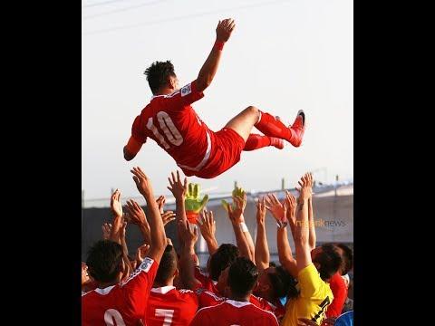 (National football player Anil Gurung's farewell speech - : 2 minutes, 10 seconds.)
