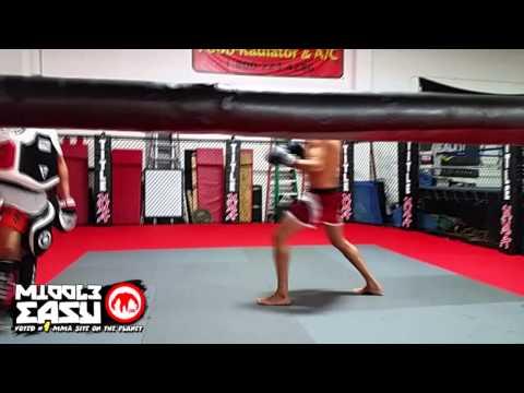 Gilbert Melendez hits pads in preparation of UFC 181 (видео)
