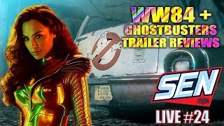 Wonder Woman 1984 & Ghostbusters Afterlife Trailer Review - SEN LIVE #24 by Schmoes Know