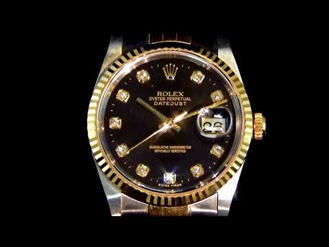 Men's 18k Yellow Gold/Stainless Steel Rolex Datejust Automatic Wristwatch