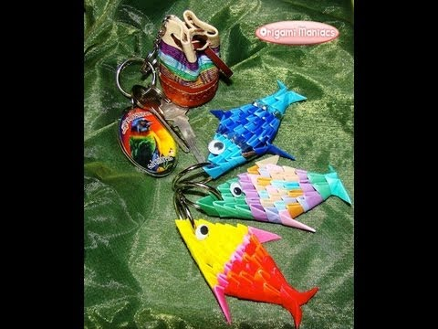 Origami Maniacs 68: 3D Origami Fish Keyholder