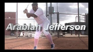 2020 Arabiah Jefferson Power Hitting Outfield and Second Base Softball Skills Video