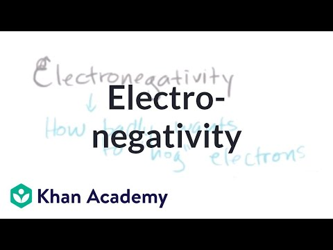 Electronegativity - Description More free lessons at: http://www.khanacademy.org/video?v=Rr7LhdSKMxY.