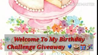 MY BIRTHDAY CHALLENGE GIVEAWAY 💖 My challenge giveaway will be unique because everybody who sends me a birthday flipbook / pocket letter will win something from me instead of only 1 winner, that way it is more fun for everyone 💜DETAILS OF THE GIVEAWAY:[  ]Please mail your flipbook not later than August 30th 2017 [  ]Flipbook/Pocket Letter has to be a birthday theme (I love doll stamps and images, fun colors and blings) [  ]Winners will be announced on September 10th 2017 in a video and remember, everyone will win something from me (paper pads, flipbook, flipbook kits, shakers, pocket letters, embellishments and other great goodies) *please subscribe and leave your email address in a comment below or reach me on Facebook (youareloved11) * Here is the video link for last year winners announcement so you guys can check it out 😊😊 https://youtu.be/VqZPomPuBgM[  ]HAVE FUN CRAFTING, MY LOVELY FRIENDS 🎁🎂🎉💖😊